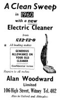 Alan Woodward Advert 1960