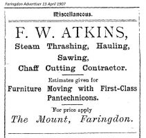 Atkins Advert 1907