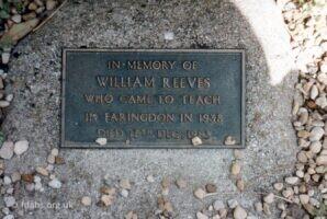 Bill Reeves Gravestone