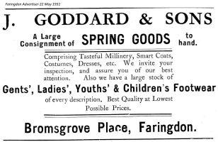Bromsgrove Goddard Advert 1931