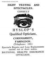 Cornmarket Hyslop Advert 1936