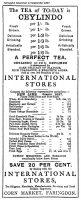 Cornmarket International Stores Advert 1897