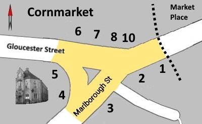 Cornmarket Map