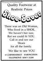 Cornmarket Shoesaver Advert 1988