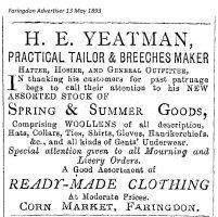 Cornmarket Yeatman Advert 1893