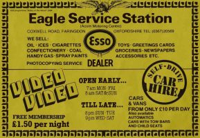 Coxwell Rd Eagle Advert 1984