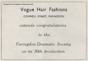Coxwell St Vogue Advert 1966