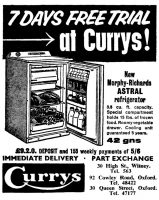 Currys Advert 1961