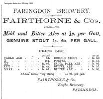 Faringdon Brewery Advert 1891