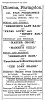 Faringdon Cinema Advert 1914
