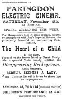 Faringdon Cinema Advert 1916