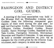Faringdon Guides Article 1931
