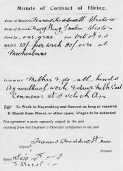 Farm Labourer Contract 1905