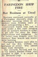 Fire At Ballards 1957