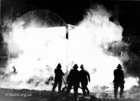 Fire Barn Longcot 1966