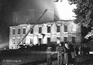 Fire Coleshill House 1952
