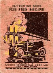 Fire Engine Instructions 1930s