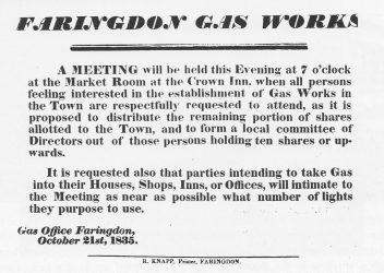 Gas Works Notice 1835
