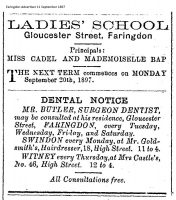 Gloucester St Adverts 1897