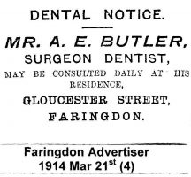 Gloucester St Butler Advert 1914