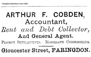 Gloucester St Cobden Advert 1903