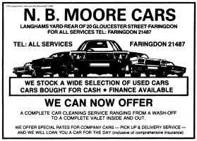 Gloucester St Moore Advert 1988