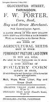 Gloucester St Porter Advert 1902