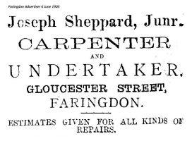 Gloucester St Sheppard Advert 1903