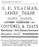 Gloucester St Yeatman Advert 1904