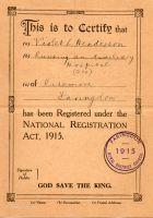 Lady Violet Certificate
