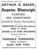 Lechlade Rd Baker Advert 1914