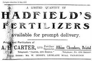 Lechlade Rd Indge Advert 1919