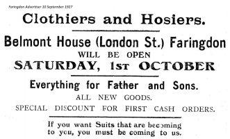 London St Belmont Advert 1927