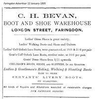 London St Bevan Advert 1895