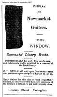 London St Bevan Advert 1897