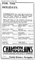 London St Chamberlain Advert 1931