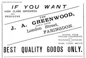 London St Greenwood Advert 1926