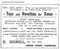 London St Hignell Advert 1919