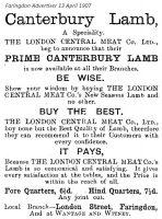 London St London Meat Advert 1907