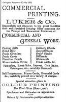 London St Luker Advert 1891