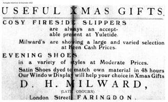 London St Milward Advert 1932