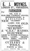 London St Moynes Advert 1937
