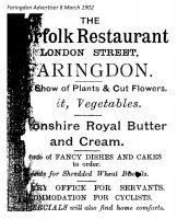 London St Norfolk Advert 1902
