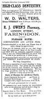London St Owen Advert 1914
