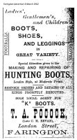 London St Pocock Advert 1902