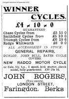 London St Rogers Advert 1925