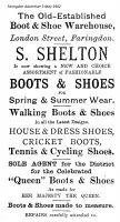 London St Shelton Advert 1902