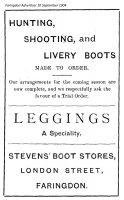 London St Stevens Advert 1904
