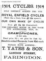 London St Yates Advert 1914