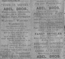 Market Pl Abel Advert 1893
